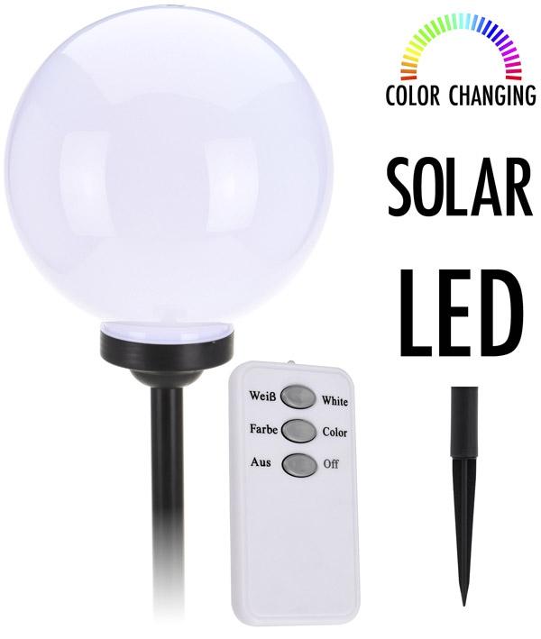 Grote LED Solarlamp kleurveranderend en AB